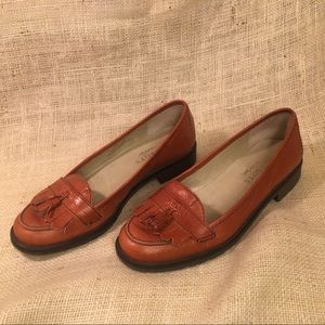 Talbots Tassel Penny Loafer Brown Leather Flats